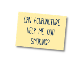 can acupuncuture help me quit